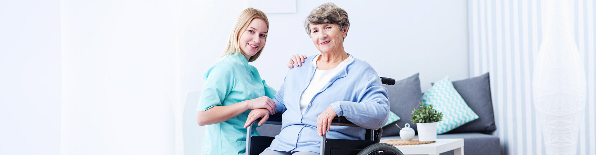 a caregiver woman with a patient